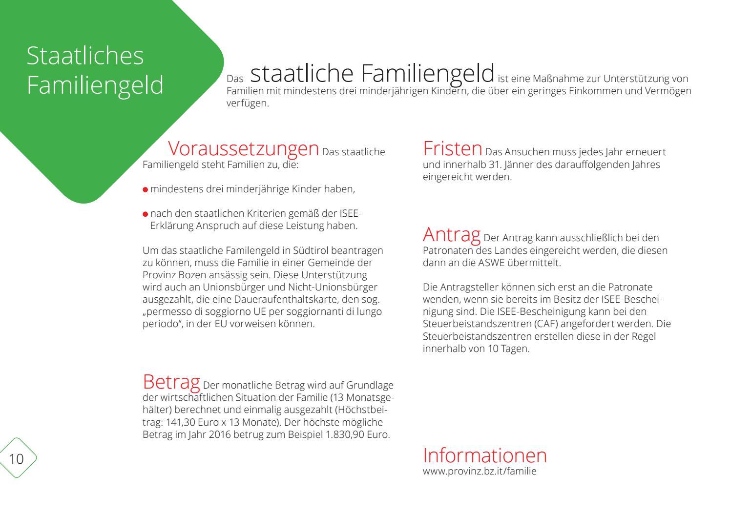 Finanzielle Förderung von Familien by Land Südtirol - Provincia ...