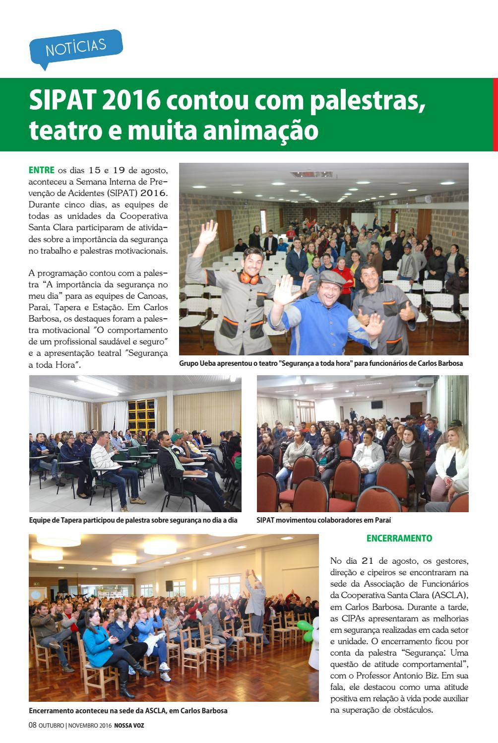 Nossa Voz Outubro 2016 By Cooperativa Santa Clara Issuu