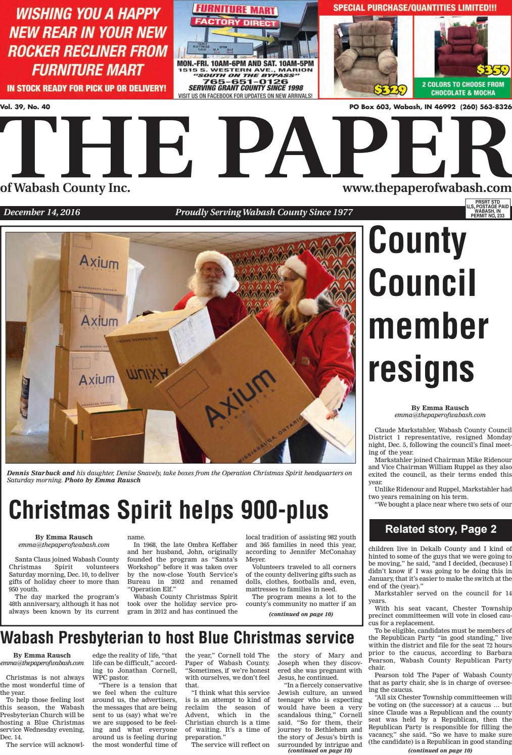 Indiana wabash county lagro - The Paper Of Wabash County Dec 14 2016 Issue By The Paper Of Wabash County Issuu