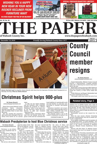 The Paper Of Wabash County Dec 14 2016 Issue By The Paper Of