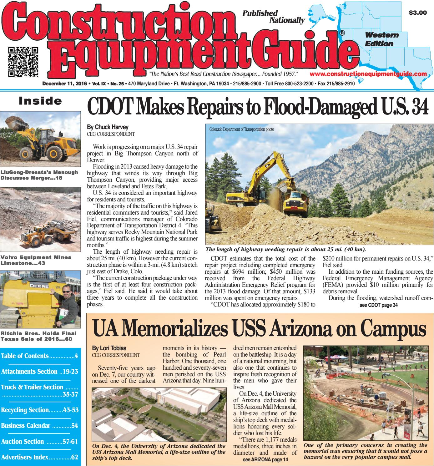 West 25 December 11, 2016 by Construction Equipment Guide - issuu