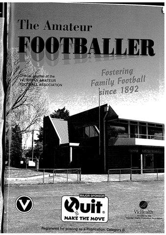 The Amateur Footballer, Week 4, 1996 by Andrew Leonard - issuu