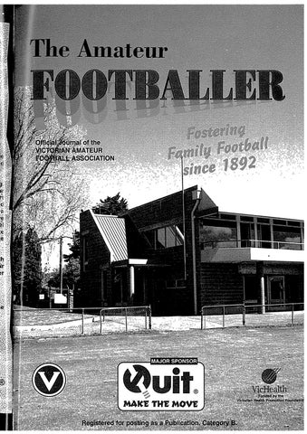 The Amateur Footballer Week 7 1996 By Andrew Leonard Issuu
