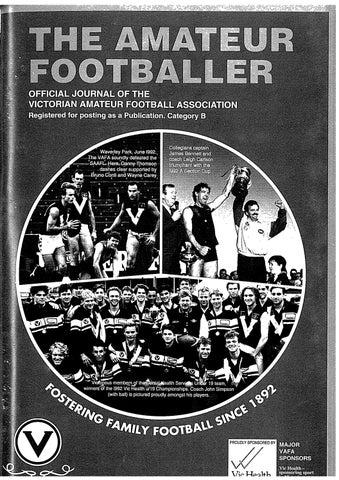 The Amateur Footballer Week 3 1993 By Andrew Leonard Issuu