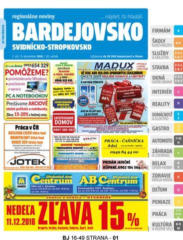 Bj1649 by REGIONPRESS - Bardejovsko - issuu bab55e1ad5b