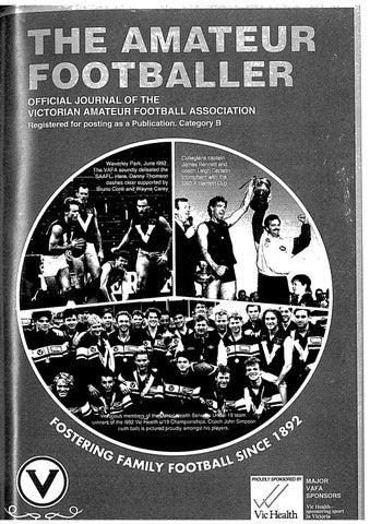 The Amateur Footballer Week 8 1993 By Andrew Leonard Issuu