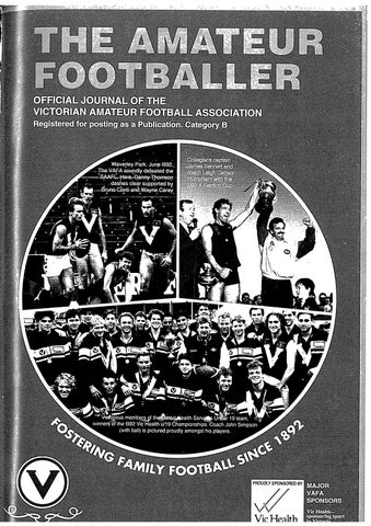 The Amateur Footballer Week 18 1993 By Andrew Leonard Issuu