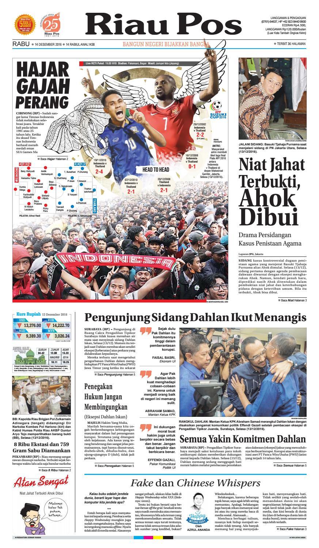 2016 12 14 By Riau Pos Issuu