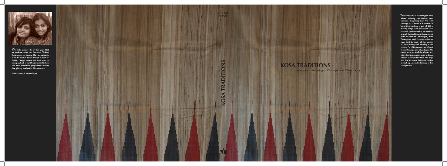 Kosa Traditions- A craft documentation of Kosa weaving by