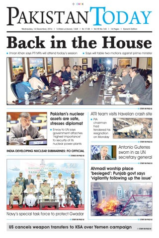 E paper pdf (14 12 2016) khi by Pakistan Today - issuu