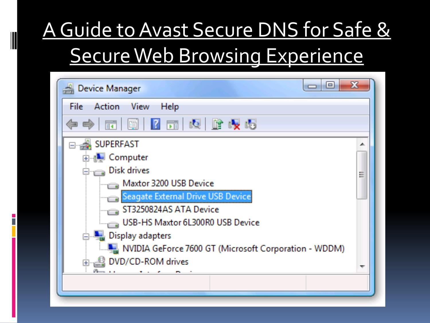 how to turn off avast secure dns