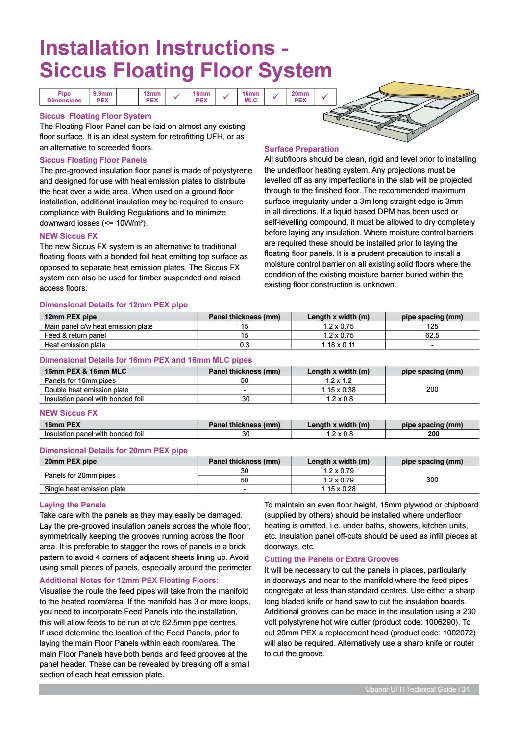 Ufh Installation Guide By Uponor Uk