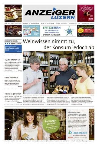 Anzeiger Luzern 50 14122016 By Anzeiger Luzern Issuu
