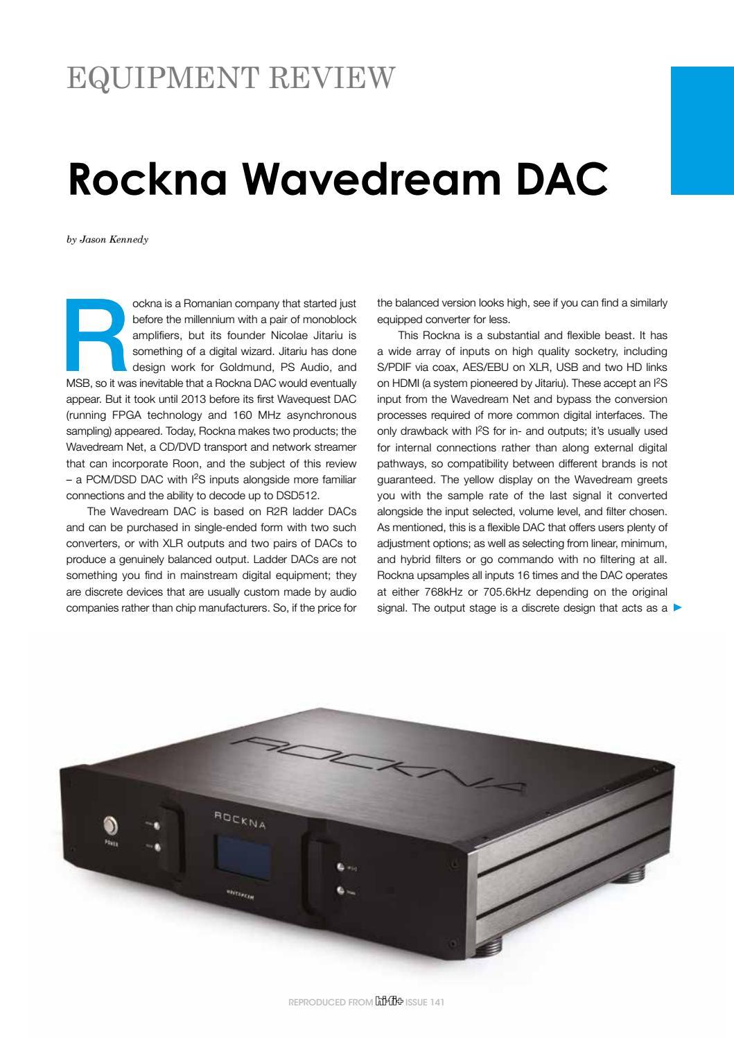 Rockna Wavedream By Moiz Audio Issuu