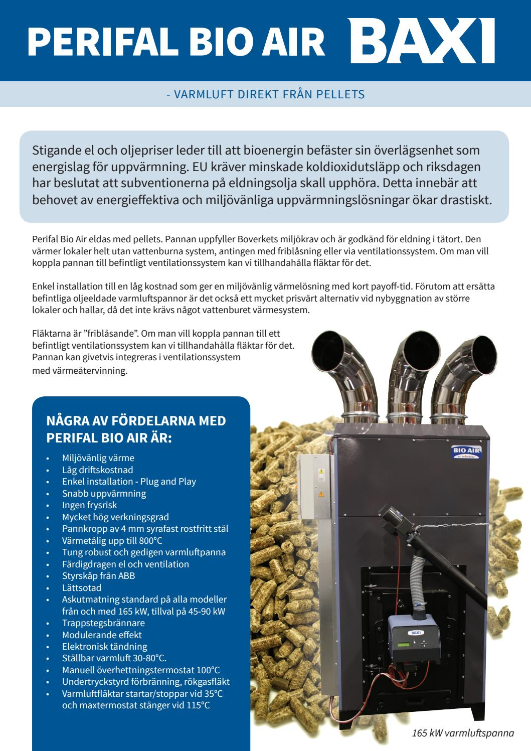 Inredning pellets kostnad : BAXI/HS Perifal - Produktblad Bio Air by Baxi Sverige - issuu