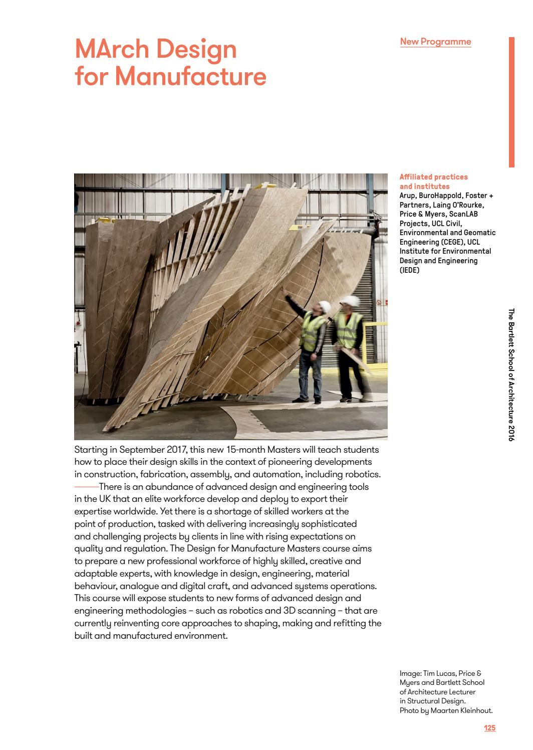 March Architectural Design Ad 2016 By The Bartlett School Of Architecture Ucl Issuu