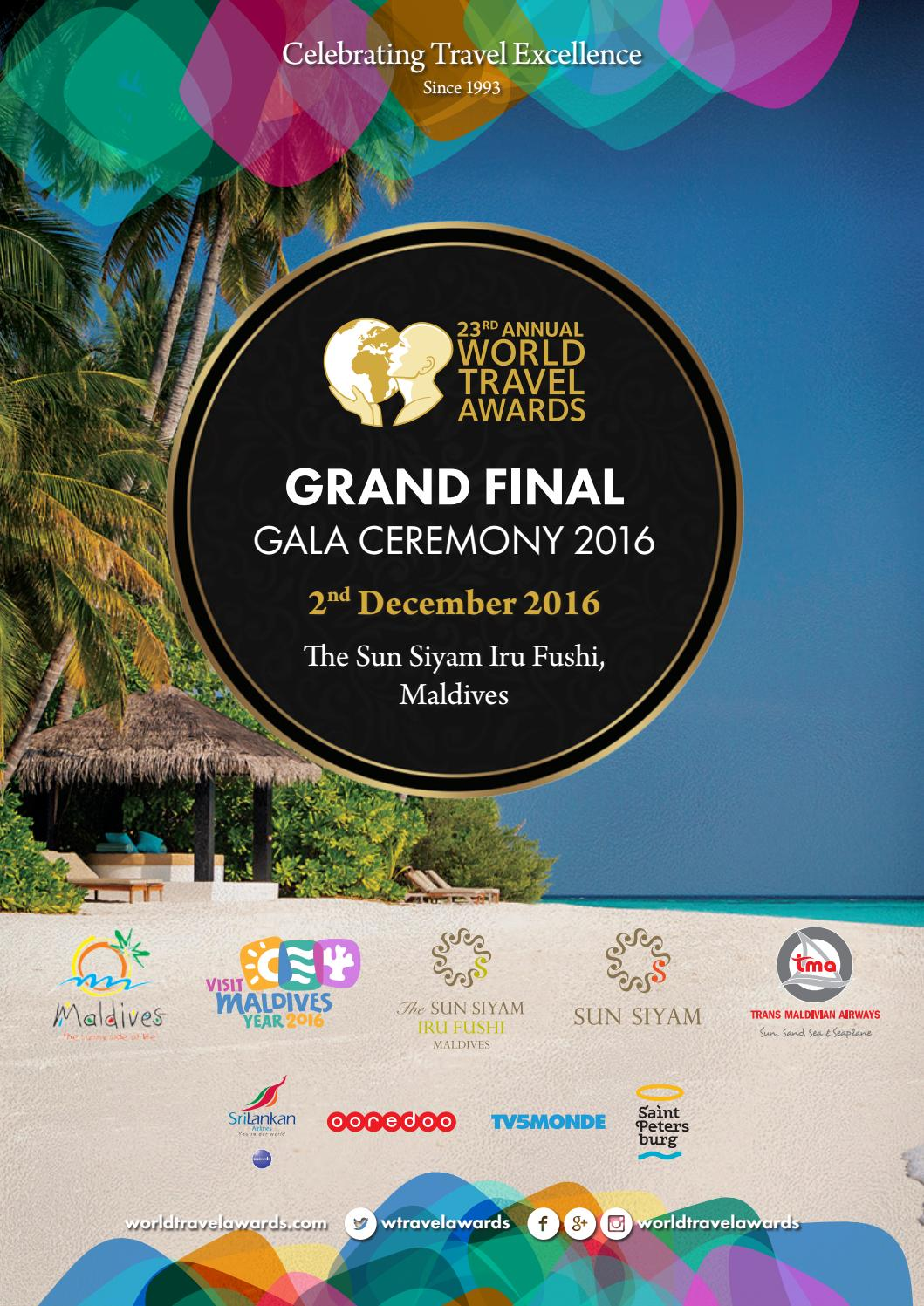 World Travel Awards Grand Final 2016 by World Travel Awards - issuu