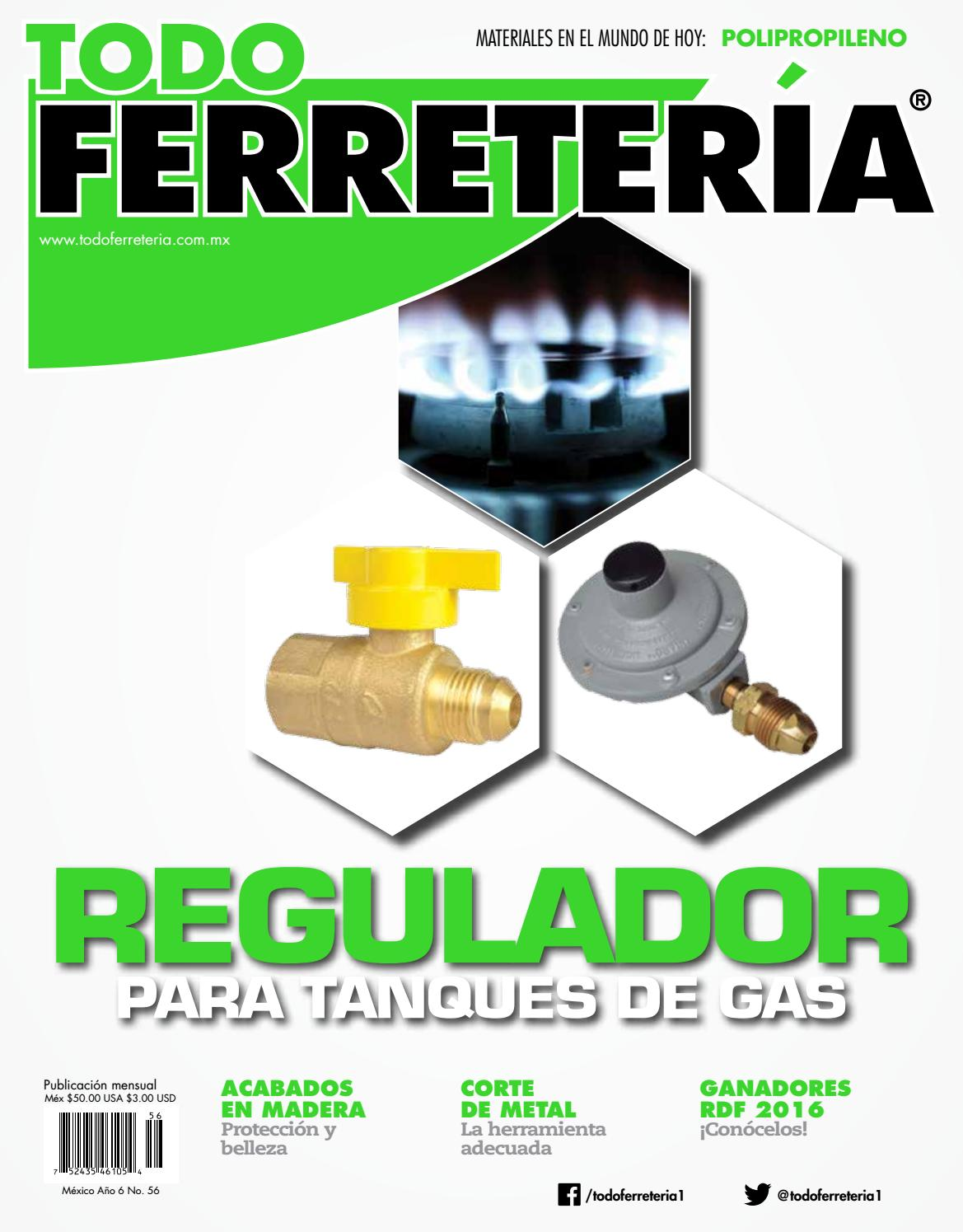 Edic 56 regulador para tanques de gas by todo ferreter a for Precio de regaderas