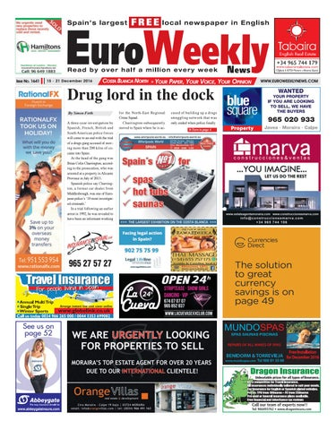 Euro Weekly News Costa Blanca North 15 21 December 2016