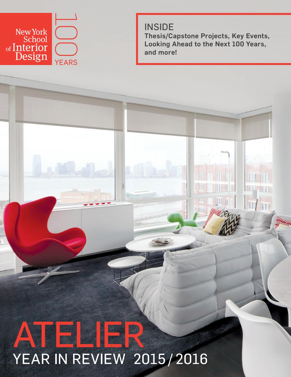 Atelier Year In Review 2015 2016 By New York School Of Interior Design