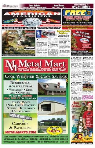 American Classifieds Dec  15th Edition Bryan College Station