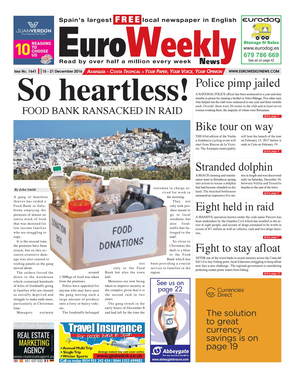 e87d465f7b9 Euro Weekly News - Axarquia 15 - 21 December 2016 Issue 1641 by Euro ...