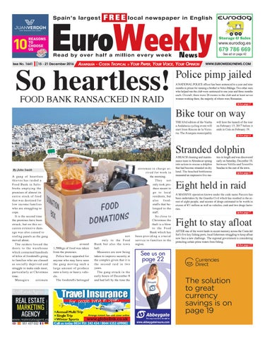 Euro Weekly News - Axarquia 15 - 21 December 2016 Issue 1641 by Euro ... b3240b1f1