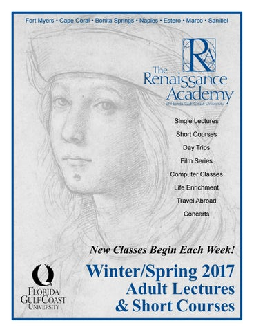 Renaissance Academy Winter Spring 2017 Program By The