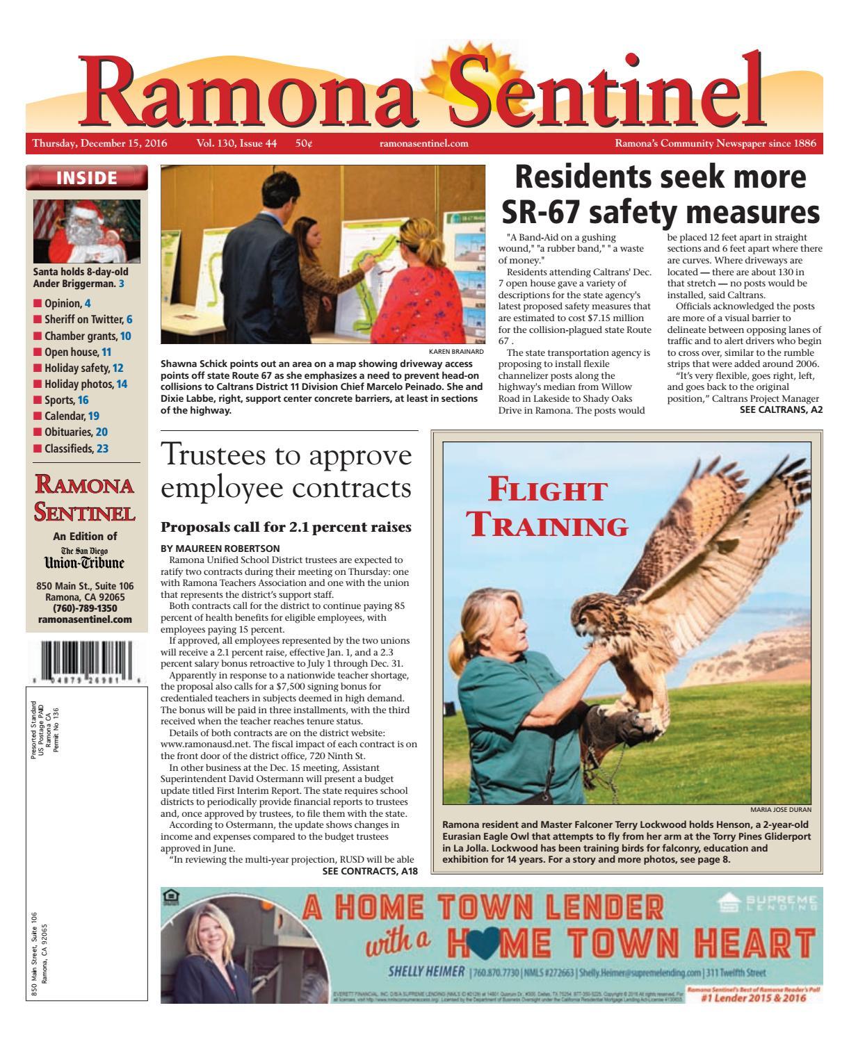 Ramona sentinel 12 15 16