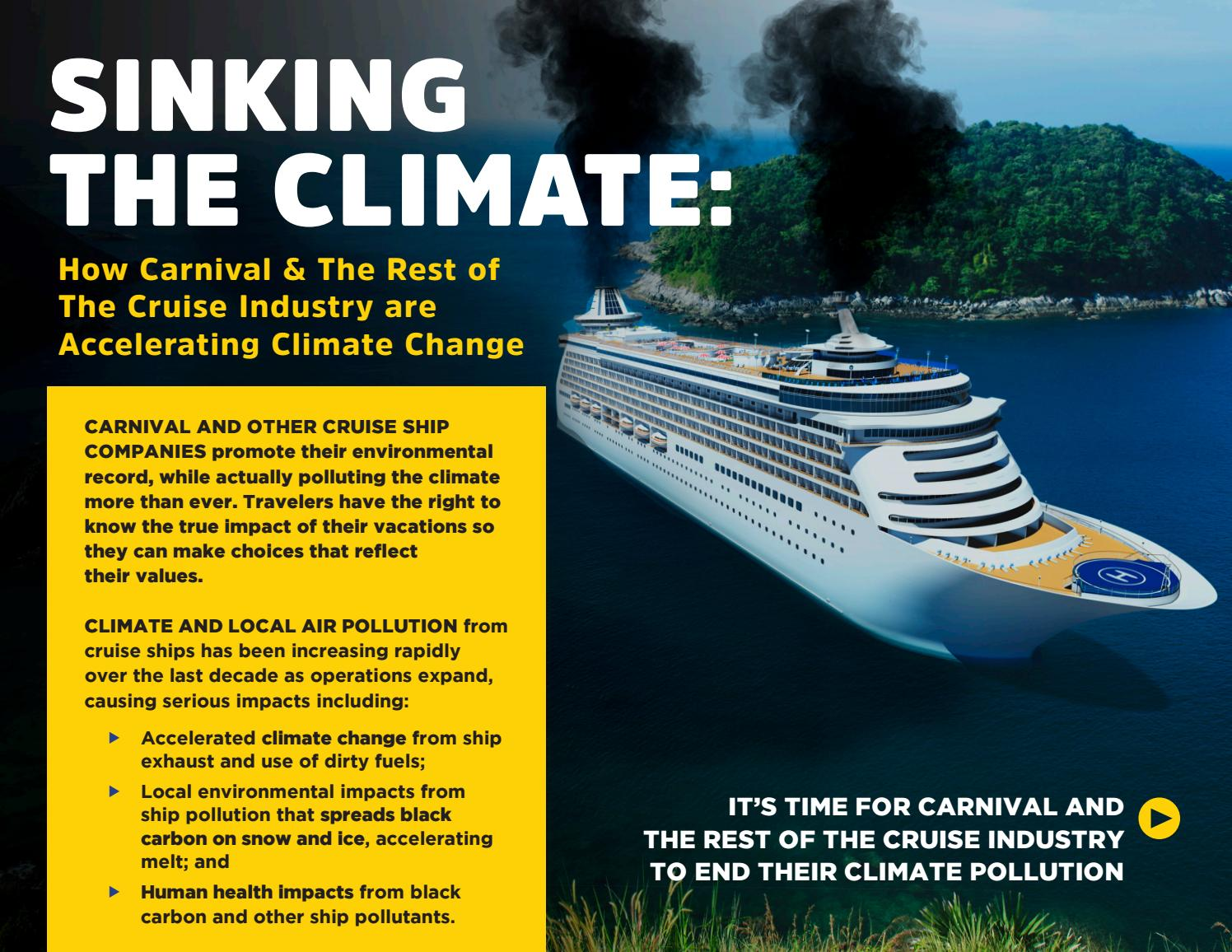 Image result for cruise ship carbon footprint