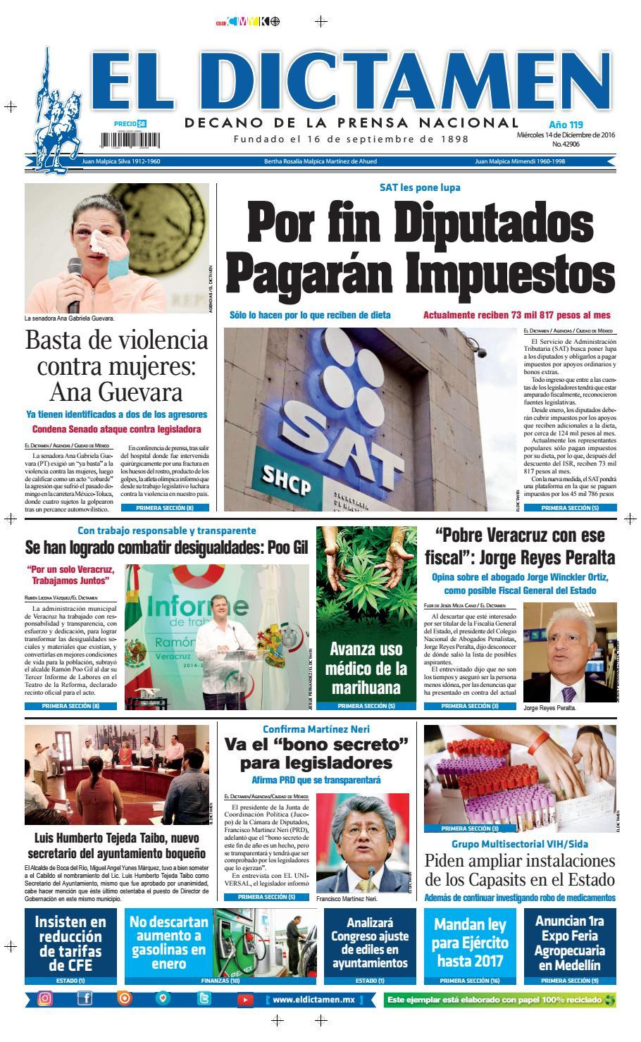 El Dictamen 14 de Diciembre 2016 by El Dictamen - issuu 1b7bebddd6c