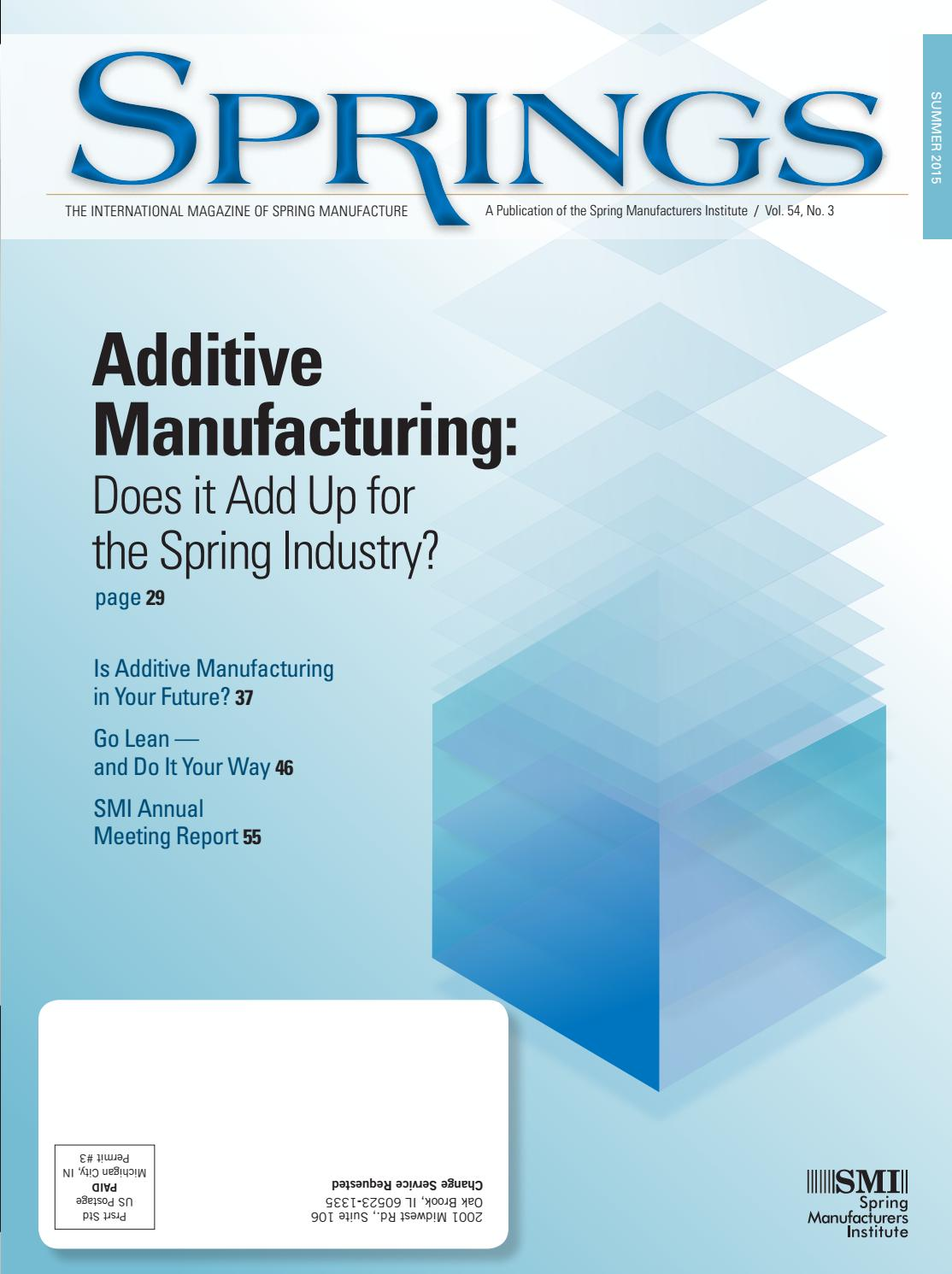Springs summer 2015 vol 54 no3 by Spring Manufacturers Institute - issuu
