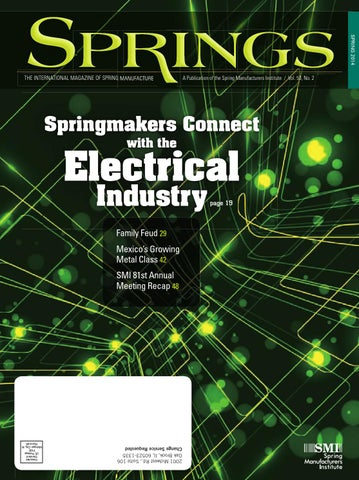 Springs Spring 2014 Vol 53 No2 By Spring Manufacturers Institute Issuu