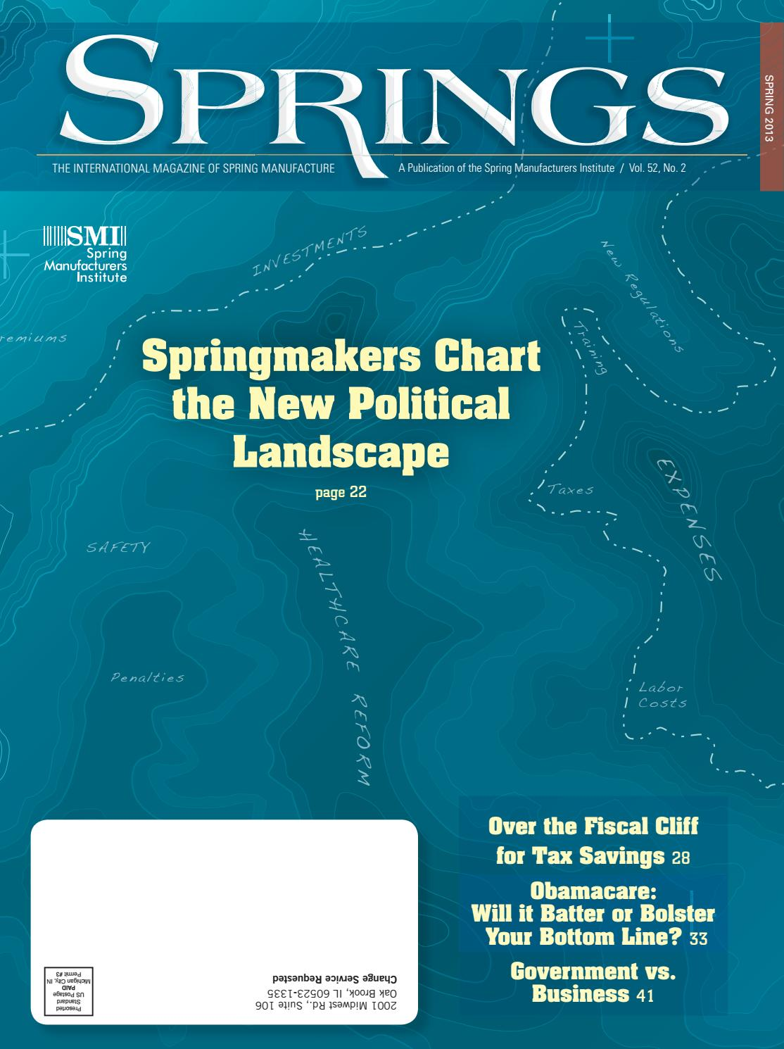 Springs spring 2013 vol 52 no2 by Spring Manufacturers Institute - issuu