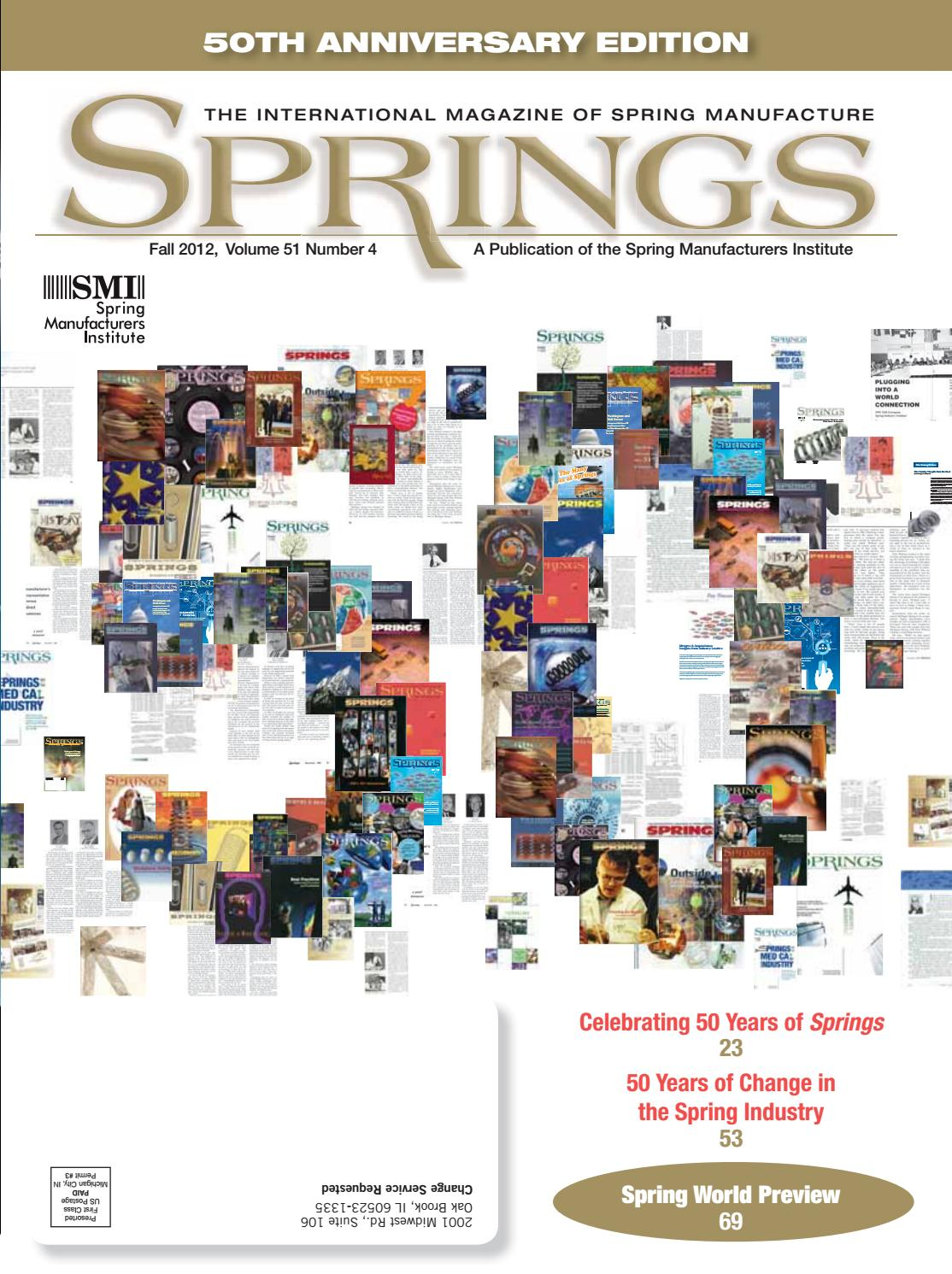 Springs fall 2012 vol 51 no4 by Spring Manufacturers