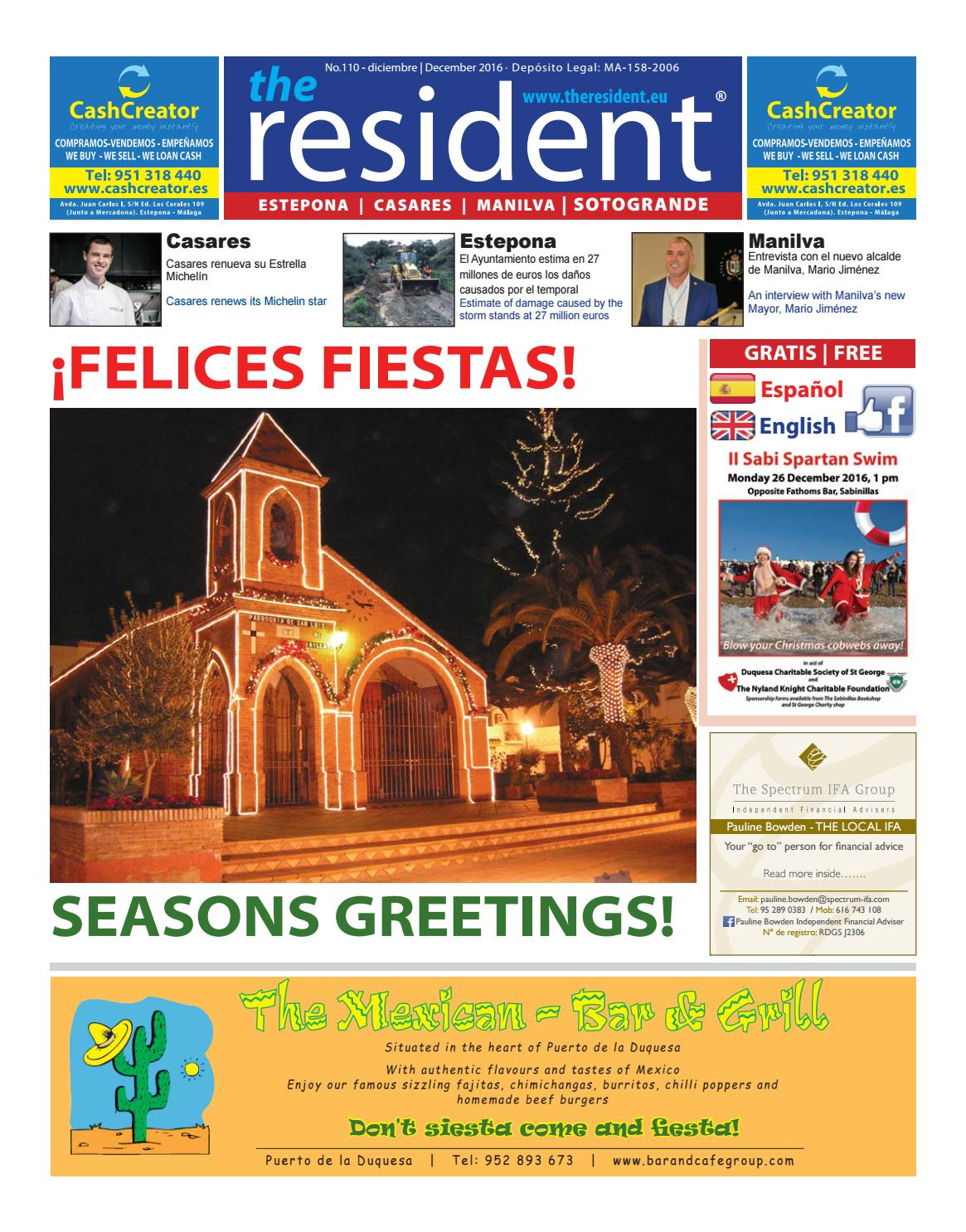 The Resident December 2016 By Manilva Media Workshop Sll Issuu