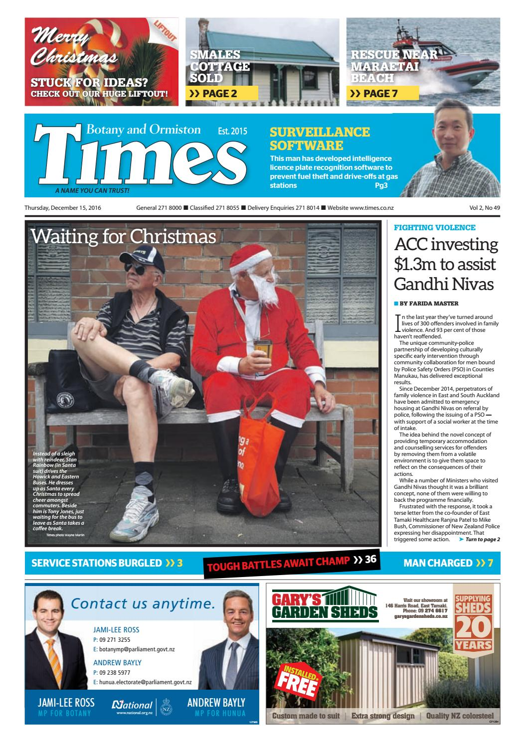 Botany and Ormiston Times December 15 2016 by Times Media