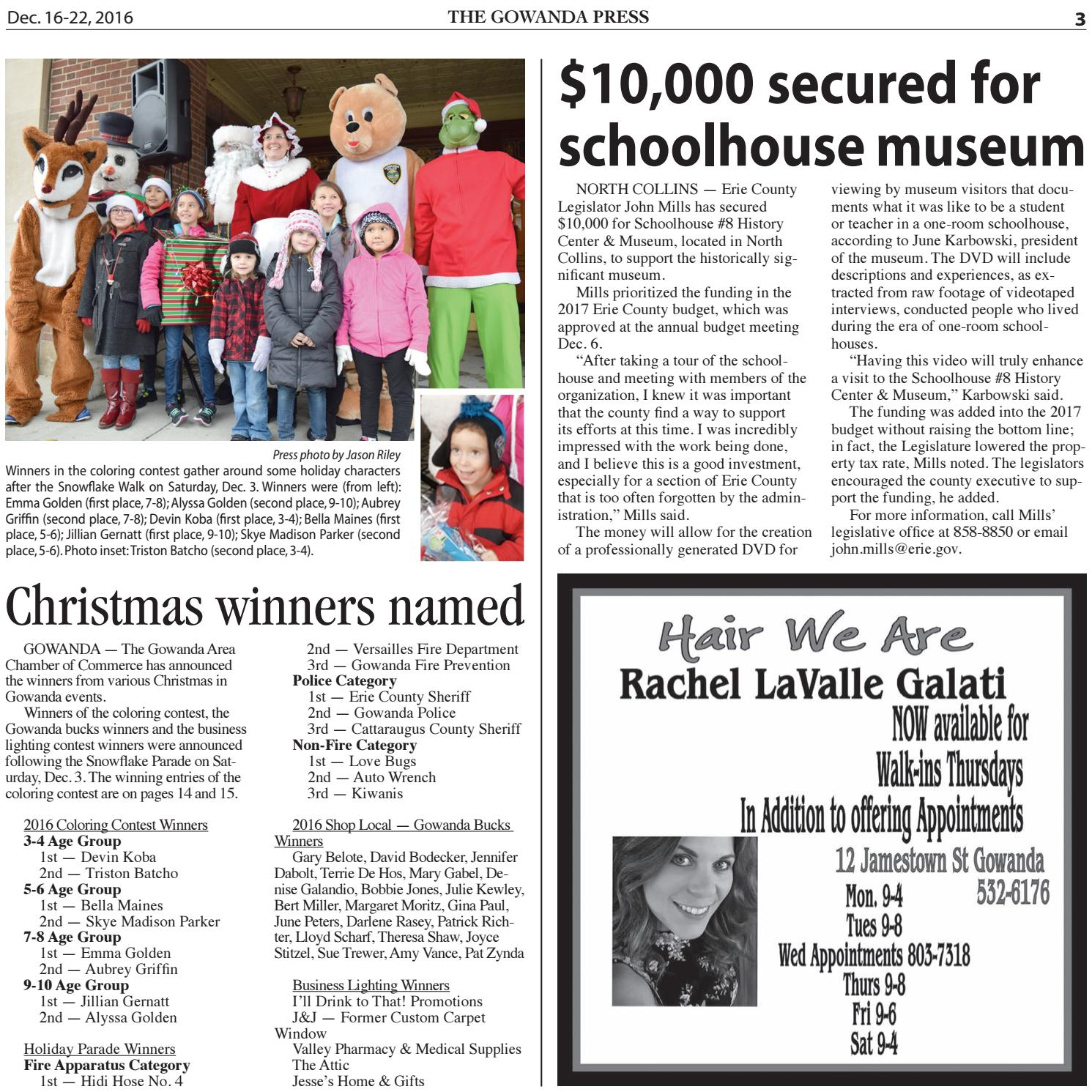 Gowanda Press — Dec  16, 2016 Edition by Bradford Publishing - issuu
