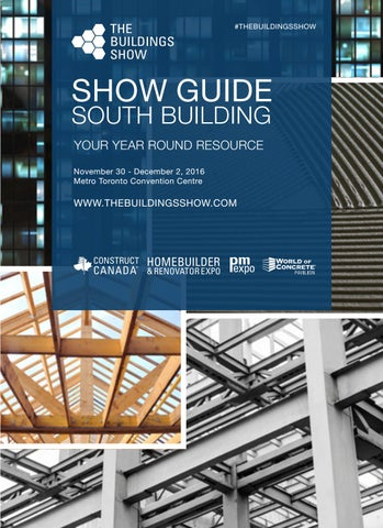 The Buildings Show 2016 - Show Guide (South Building) by ... on