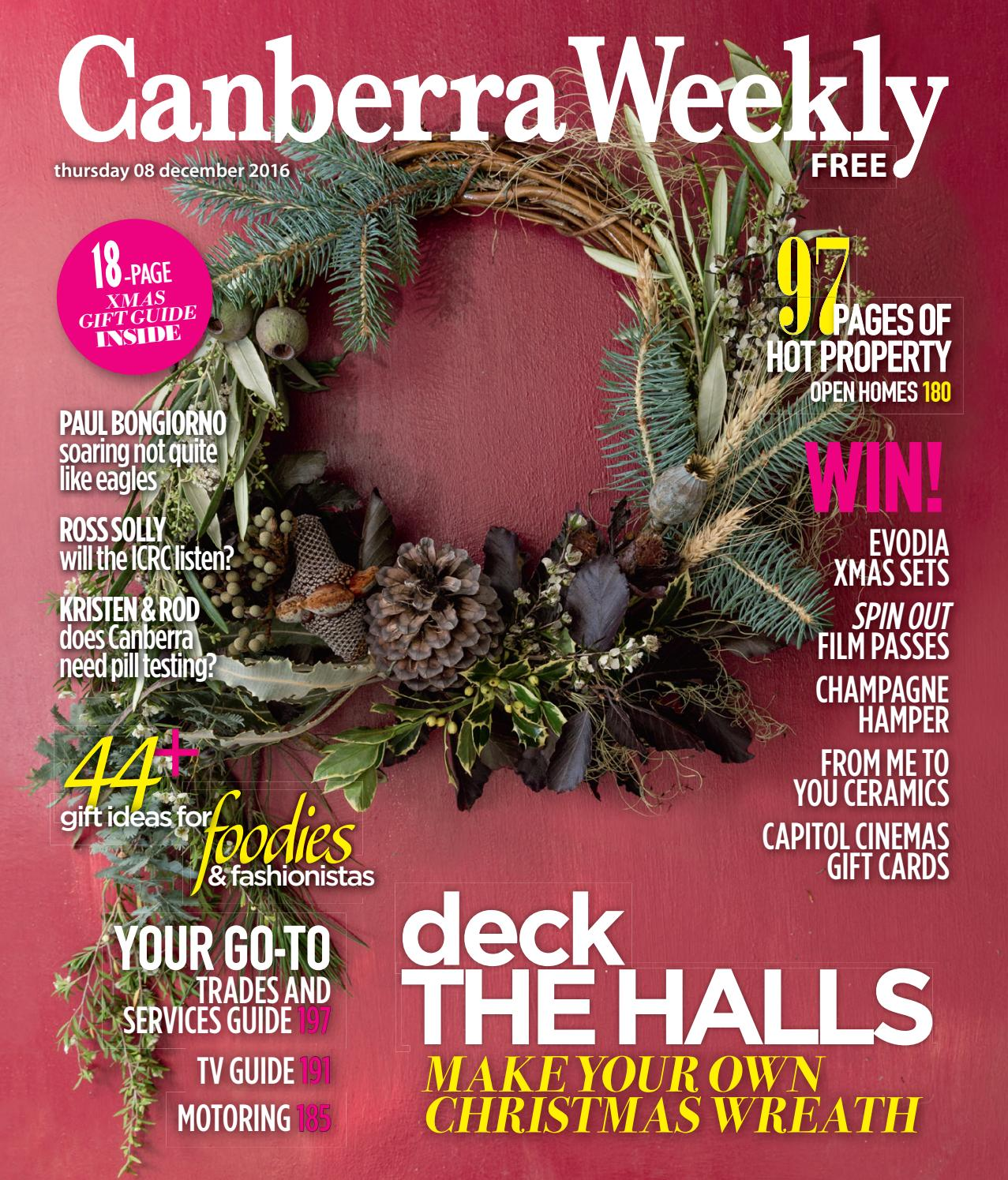 08 December 2016 by Canberra Weekly Magazine - issuu