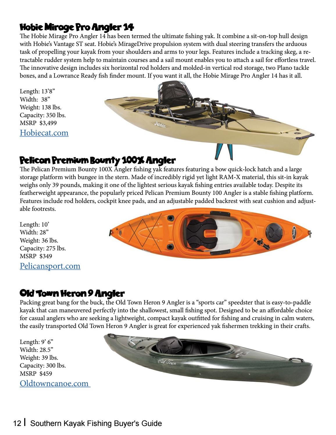 Southern Kayak Fishing Buyer's Guide by Southern Unlimited