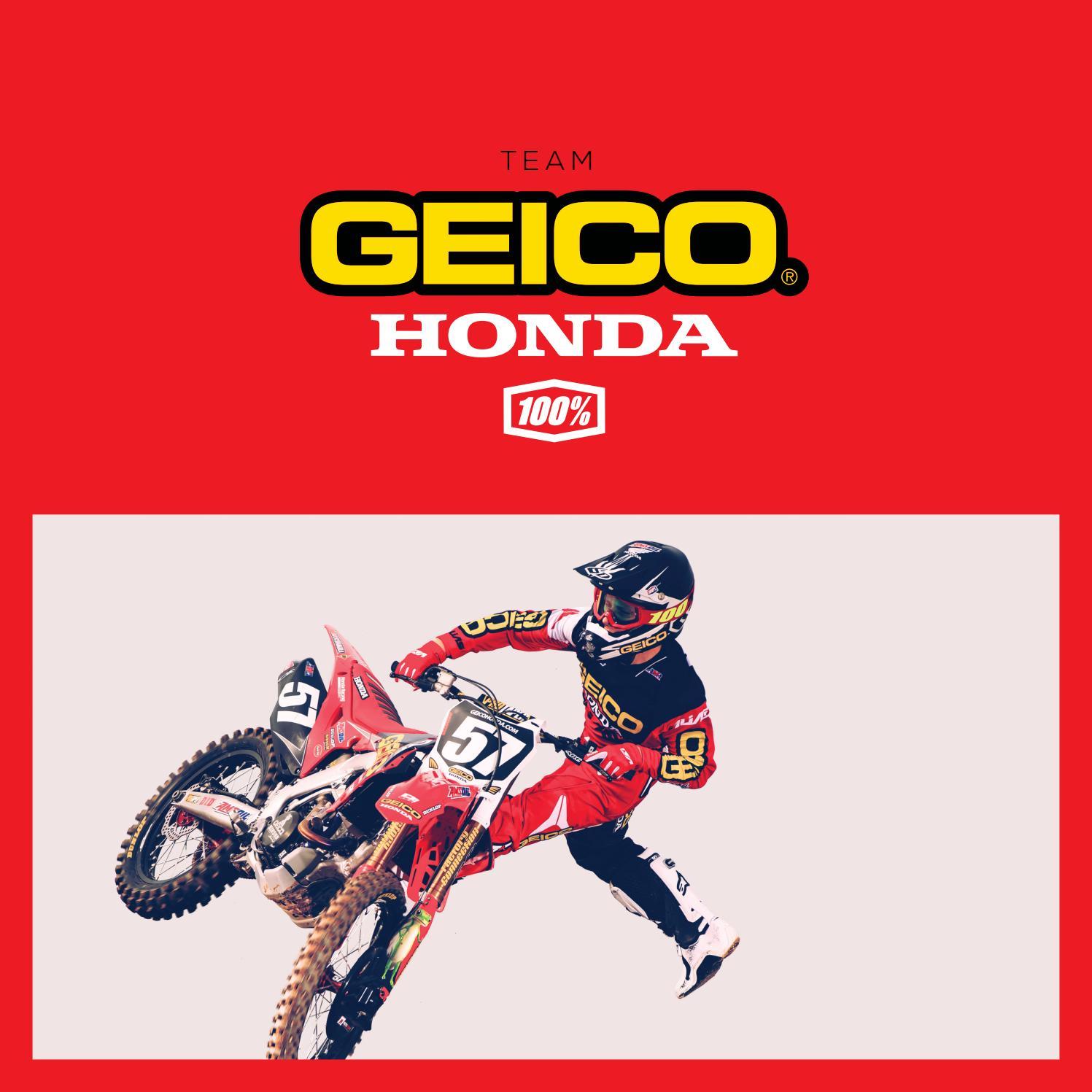 c2ab58444c1 2017 GEICO Honda Team Collection by 100% - issuu
