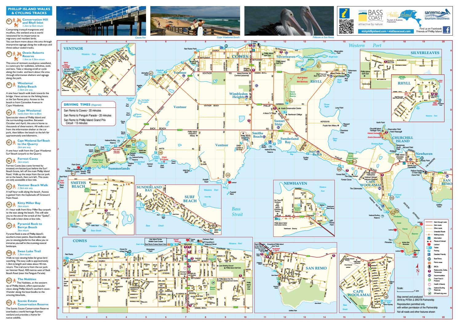 Phillip Island and San Remo Map 2017 by Destination Phillip Island