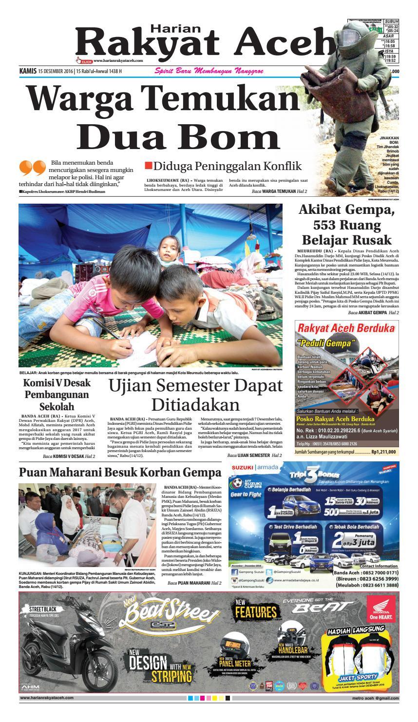 15 Decemberr 2016 By E Rakyat Aceh Issuu Produk Ukm Bumn Jamu Kunyit Asam Seger Waras
