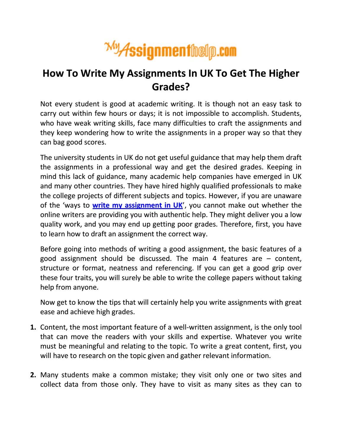 How to Write a Good Assignment | blogger.com