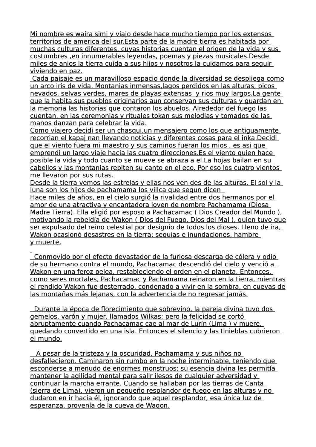 Chasqui Nueva Version By Vayu Dasa Issuu