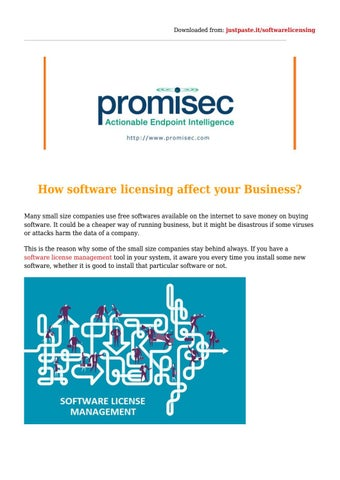 How software licensing affect your Business? by Alan Taylor - issuu