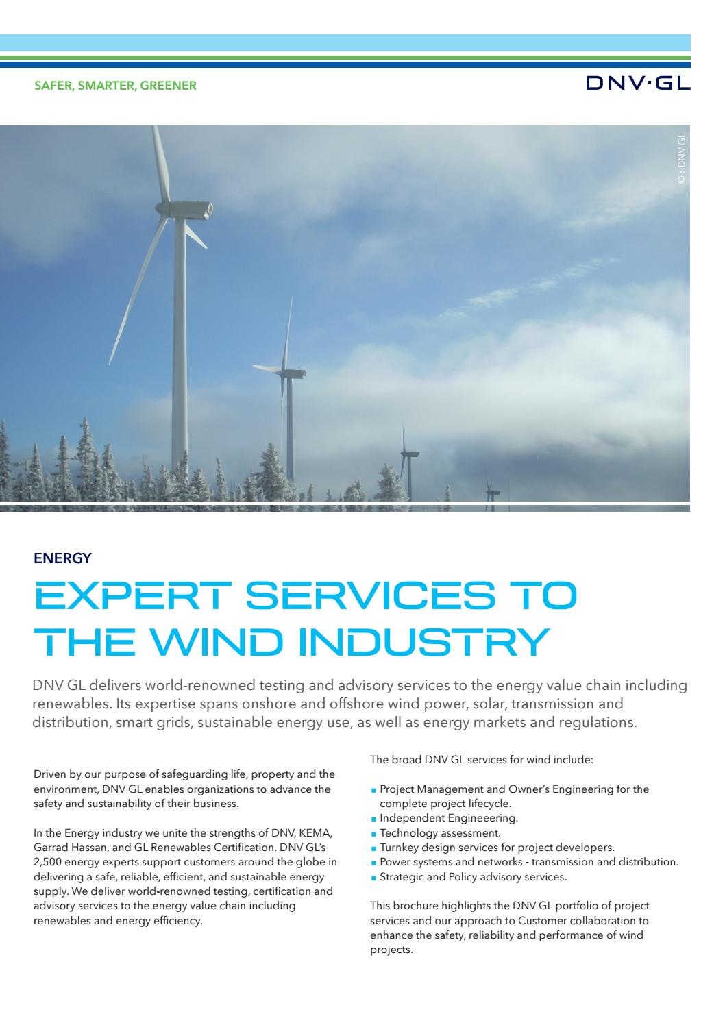 Expert services to the wind industry by DNV GL - issuu