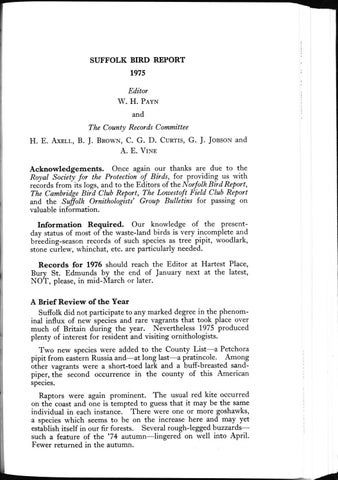 Suffolk Bird Report 1975 by Suffolk Naturalists' Society - issuu