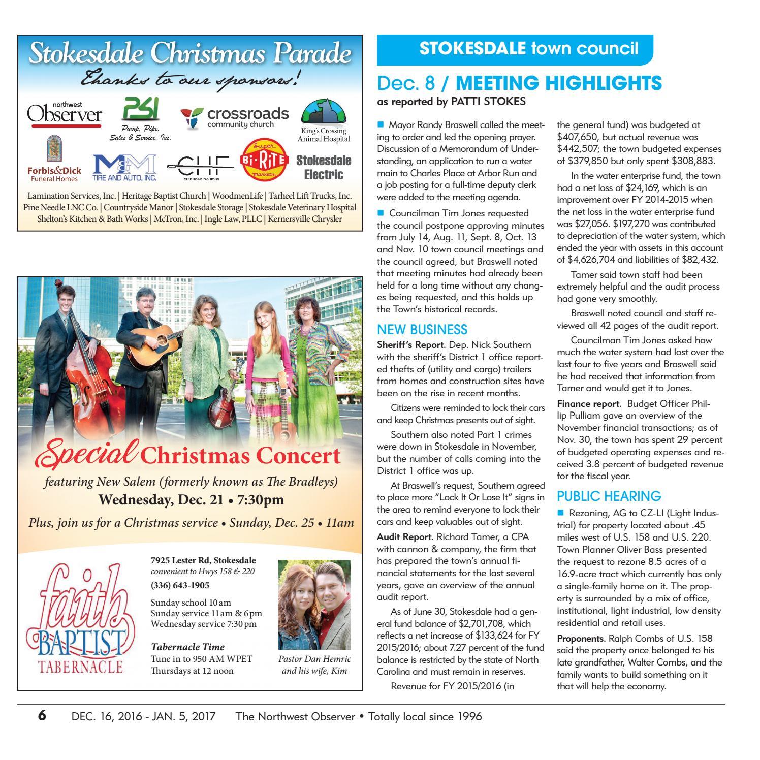 Northwest Observer | Dec  16, 2016 - Jan 5, 2017 by